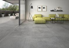 ITT Ceramic - coordinate floor interior / exterior Dalle Pvc, Showroom, Interior And Exterior, Tiles, New Homes, Indoor, Flooring, Ceramics, Living Room