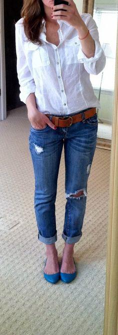 BiBüs Design: Yırtıklı Pırtıklı Jeanler (DIY)