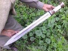 SSM!415Custom Hand Made Damascus Steel Hunting Sword