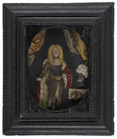 Wax portrait of General Monck, Duke of Albermarle with his ducal robes, wax, date given as c. 1650 (probably actually dates to the 1660s, as Monck was not ennobled until after the Restoration).