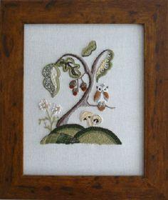 CW 415 Woodland Owl Starter Crewel Embroidery Kit
