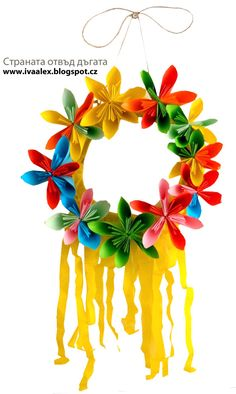 Sunny wreath for the spring