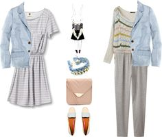 """""""what to wear with light blue jeans blazer"""" by hueyna on Polyvore"""