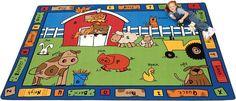 Alphabet Farm Classroom Area Rug 5'10 x 8'4