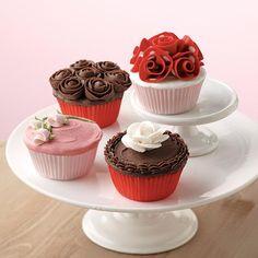 Valentine's Day Rose Cupcake Quartet