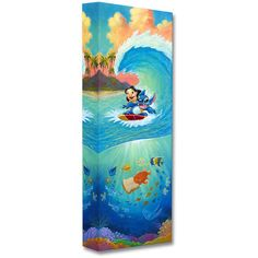 Disney Fine Art Hawaiian Roller Coaster Limited Edition Wrapped Canvas (€92) ❤ liked on Polyvore featuring home, home decor, wall art, motivational canvas wall art, disney home decor, hawaiian home decor, inspirational canvas wall art and inspirational wall art