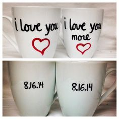 Couples Love Mug Hand-Lettered Mug I Love you by Brusheswithaview