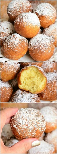 Easy Ricotta Doughnuts! Soft and fluffy, scrumptious doughnut holes made with ricotta cheese. from willcookforsmiles.com