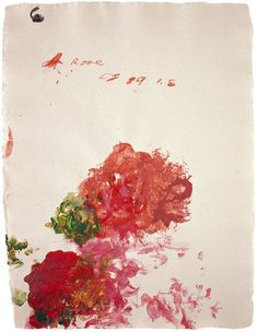 "paintedout: ""Cy Twombly """