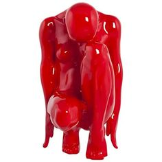 Ebern Designs The statue in polyresin (synthetic resin) painted in red lacquer represents a thinking woman. A modern decorative item. Red Home Accessories, Decorative Accessories, Decorative Items, Decoration Design, Deco Design, Statue, Cadeau Design, Strawberry Decorations, Kokoon Design