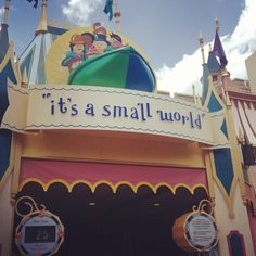 After all these years, it's still my favorite ride at WDW! It's a small world after all..