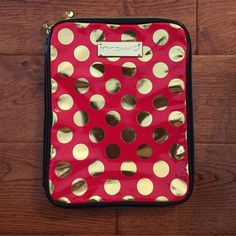 Betsey Johnson iPad 2 case Red with gold polka dots! Betsey Johnson iPad case Betsey Johnson Accessories Tablet Cases