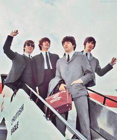 John Lennon, Richard Starkey, George Harrison, and Paul McCartney