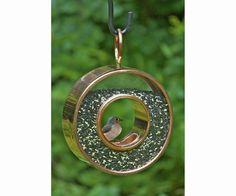 Fly-Thru Circle Venetian Bronze Bird Feeder at BackyardBirdWatcher.com