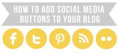 How to add social media buttons to my blog from hernewleaf