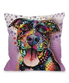 Add a pop of adorable admiration to a room with this playful pillow. This doggone-comfy piece is perfect for snuggling, cuddling and afternoon naps with a precious pooch.