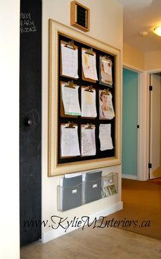 "Make a ""motherboard"" to track school paperwork. 