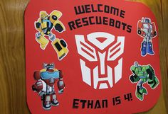 Ethan's request for a Transformers Rescue Bots birthday party was granted, and it was a blast. Rescue Bots are a harmless yet super cool version of Transformers and pretty much meet every 4 year old boy's interests. Fourth Birthday, 4th Birthday Parties, Birthday Diy, Birthday Ideas, Rescue Bots Cake, Rescue Bots Birthday, Transformers Birthday Parties, Lego Dragon, Transformer Birthday