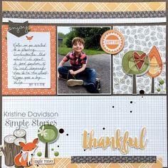Layout from creative team member Kristine Davidson using our Hello Fall collection