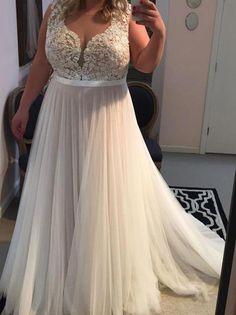 e72d733fa 2018 Plus Size Ivory Prom Dress Tulle Cheap Long Prom Dress #VB2152  #plussizeweddingdresses