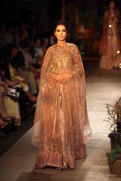 Sabyasachi Collection   Vogue Wedding Show 2014 - love the rose hue