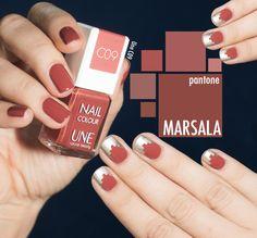 Pantone color Spring 2015 Nailpolish Selection Marsala