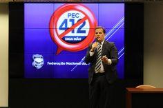 O presidente da Federação Nacional dos Policiais Federais - Fenapef Luís Antônio Boudens participou como palestrante da audiência pública para debater a admissibilidade da Proposta de Emenda à Const ...