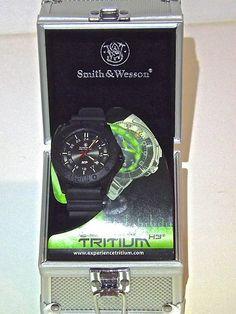 Smith & Wesson M Men Women Wrist Watch Tritium Tactical Military Police Swat