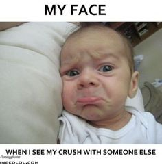 My face when I see my crush