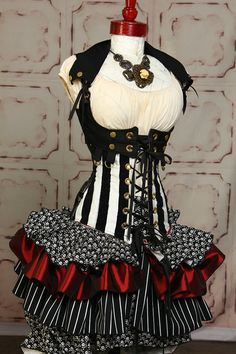 Tieranny Skirt in Classic Pirate by damselinthisdress on Etsy, $59.00