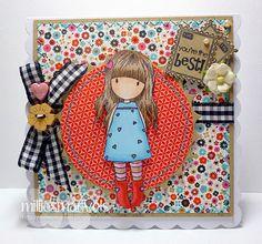 Creations by Fiskarettes : Gorjuss girl card