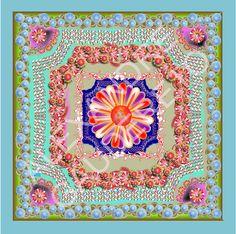 Almofada flor centro - Tamanho 45x45cm