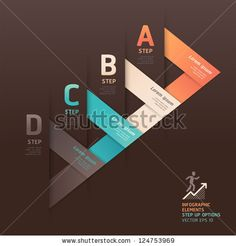 stock vector : Modern arrow origami style step up options banner. Vector illustration. can be used for workflow layout, diagram, number options, web design, infographics.