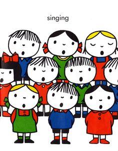 cartoons logos Illustration by Dick Bruna: Singing Book Cover Design, Book Design, Cartoon Logo, Miffy, Kids Logo, Illustrations And Posters, Children's Book Illustration, Vintage Children, Clipart