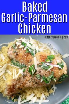 Bring the flavors of the Italy home with these easy to make Baked Garlic-Parmesan Chicken Drumsticks! Complete the meal by serving with couscous, roasted carrots, and tomato & cucumber salad for a family-friendly meal that's ready in just 40 minutes. Easy Homemade Recipes, Spicy Recipes, Italian Recipes, Crockpot Recipes, Vegetarian Recipes, Healthy Recipes, Drink Recipes, Delicious Recipes, Baked Garlic Parmesan Chicken