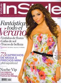 Eva Longoria, IMTA 1998, on the cover of InStyle!