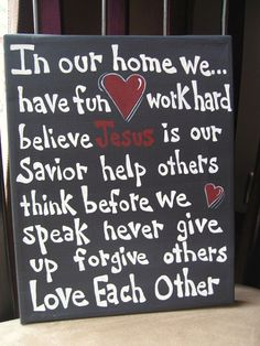 In our home, we believe Jesus is our Savior <3