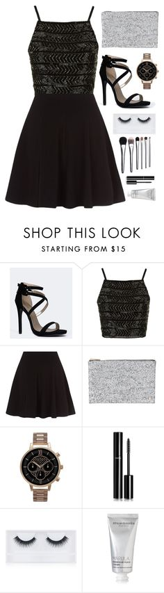 """""""New years eve <3"""" by dipske ❤ liked on Polyvore featuring Qupid, Topshop, Deux Lux, Olivia Burton, Chanel, Georgie Beauty, African Botanics and Bobbi Brown Cosmetics"""
