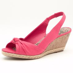 Add style to your summer wardrobe with these open toe sling-back raffia wedge sandals. With a padded footbed and elasticated strap around the ankle, these shoes are comfortable as well. Other colours available. Sizes 6-11.