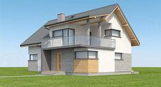 Projekt domu Aosta II Termo 130,27 m2 - koszt budowy 191 tys. zł - EXTRADOM House Construction Plan, Home Fashion, House Design, Mansions, Architecture, House Styles, Houses, Home Decor, Ceiling Ideas