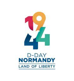 1944 D-Day - Normandy, Land of Liberty. Self Branding, Branding Logo Design, Brand Identity Design, Logo Inspiration, Daily Inspiration, Pet Logo, Anniversary Logo, Company Anniversary, D Mark