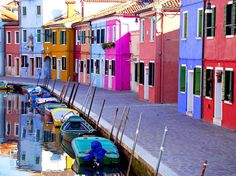 Colored houses of Burano, Venice