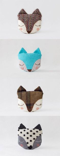 Let's cuddle these wonderful sleepy fox pillows from Guadelupe Creations . All handcrafted with lots of love and great attention for ... #Pillow