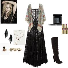 Misty Day Inspired (AHS:Coven) by sissycreates94 on Polyvore featuring polyvore, fashion, style, Free People, Chicwish, Givenchy, Stila and Coven