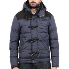 Sixth June - Duffle Coat Bubble Jacket Navy Blue