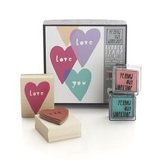 Love You Stamp Set    Crate and Barrel