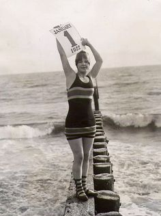 new year's bathing suit 1922 by carbonated, via Flickr