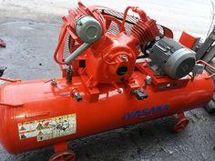 Máy nén khí piston Fuji Earth công suất 5.5 kW, loại dùng dầu bôi trơn, bình chứa 280 lít, áp suất hoạt động 9.9 kgf/cm2