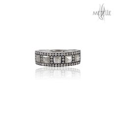White Gold Ice Diamond Designer Band Ring