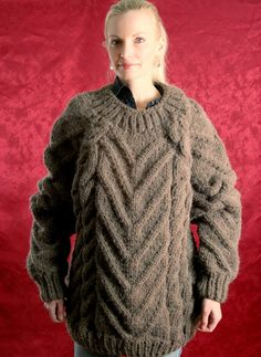 Made to order hand knitted chunky wool sweater by by supertanya